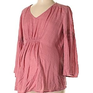 NWOT Pink Maternity Shirt